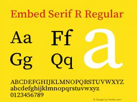 Embed Serif R