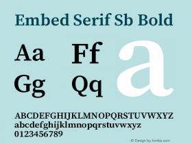 Embed Serif Sb