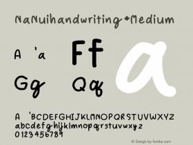 NaNuihandwriting