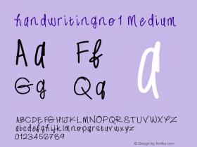 handwritingno1
