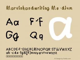 Marvinhandwriting