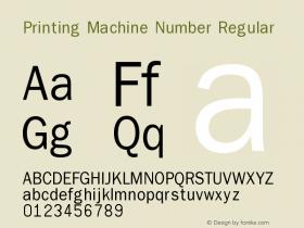 Printing Machine Number
