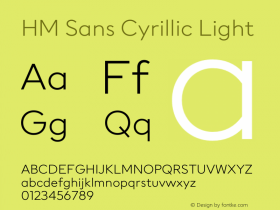 HM Sans Cyrillic
