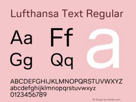 Lufthansa Text