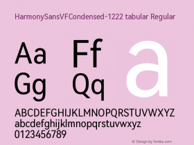 HarmonySansVFCondensed-1222 tabular