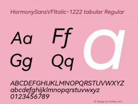 HarmonySansVFItalic-1222 tabular