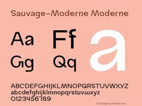 Sauvage-Moderne