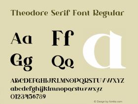 Theodore Serif Font