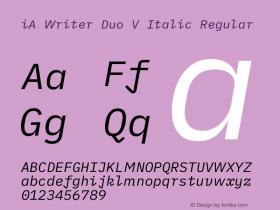 iA Writer Duo V Italic
