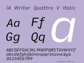 iA Writer Quattro V