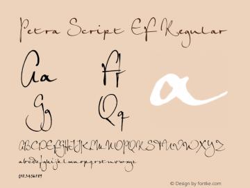 Petra Script EF