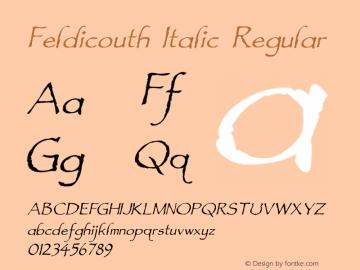 Feldicouth Italic