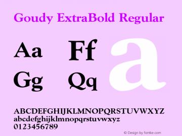 Goudy ExtraBold