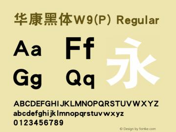 华康黑体W9(P)
