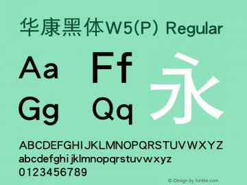 华康黑体W5(P)