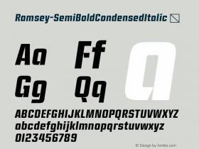 Ramsey-SemiBoldCondensedItalic