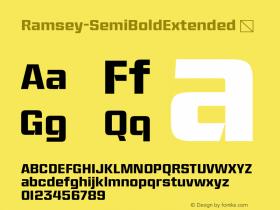 Ramsey-SemiBoldExtended