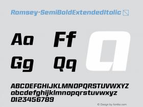 Ramsey-SemiBoldExtendedItalic