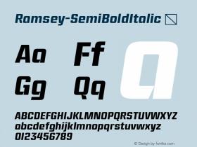 Ramsey-SemiBoldItalic
