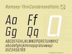 Ramsey-ThinCondensedItalic