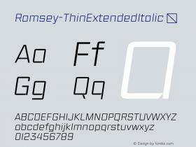 Ramsey-ThinExtendedItalic