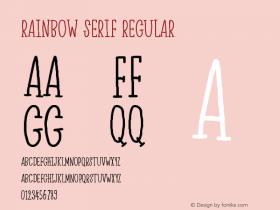 Rainbow Serif