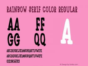 Rainbow Serif Color