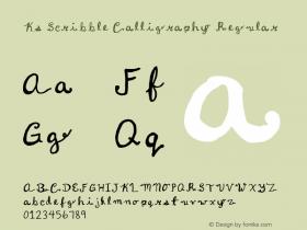 Ks Scribble Calligraphy