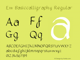 Ew Basiccalligraphy