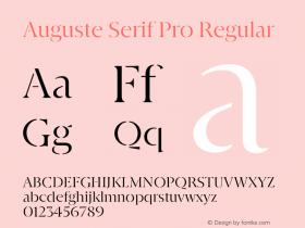 Auguste Serif Pro