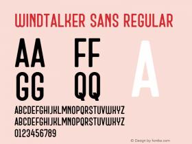 Windtalker Sans
