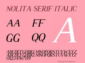 Nolita Serif