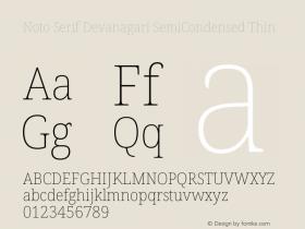 Noto Serif Devanagari SemiCondensed