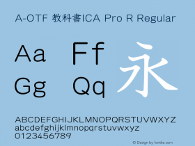 A-OTF 教科書ICA Pro R