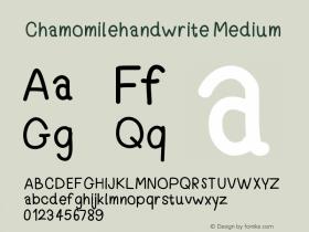 Chamomilehandwrite