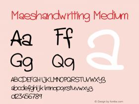 Maeshandwriting