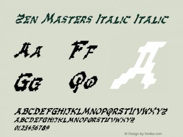 Zen Masters Italic