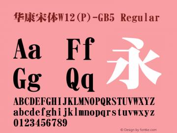 華康宋體W12(P)-GB5