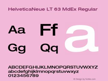 HelveticaNeue LT 63 MdEx