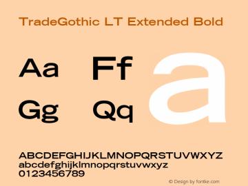 TradeGothic LT Extended