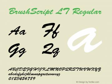 BrushScript LT