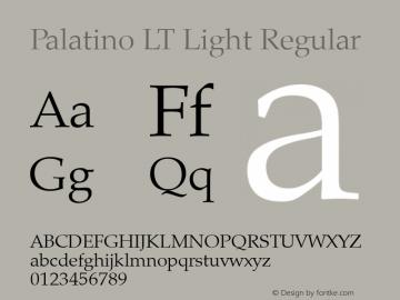 Palatino LT Light
