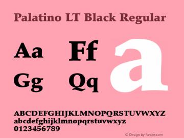 Palatino LT Black