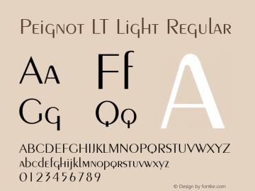 Peignot LT Light