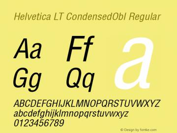 Helvetica LT CondensedObl