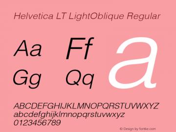 Helvetica LT LightOblique