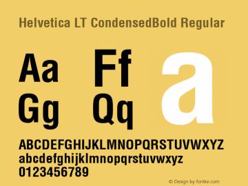 Helvetica LT CondensedBold