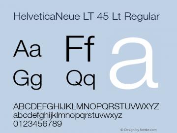 HelveticaNeue LT 45 Lt