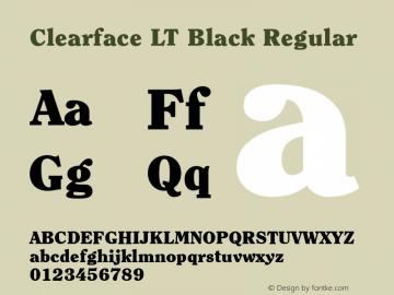 Clearface LT Black