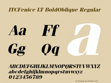 ITCFenice LT BoldOblique